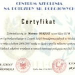 Certyfikat - CSNPSP