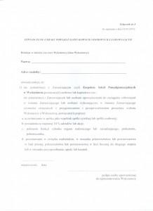 Załącznik nr 3 -oświadczenie